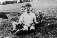<p>At the young age of 6, with 8-year-old brother Mike, in a photo from 1948.</p>