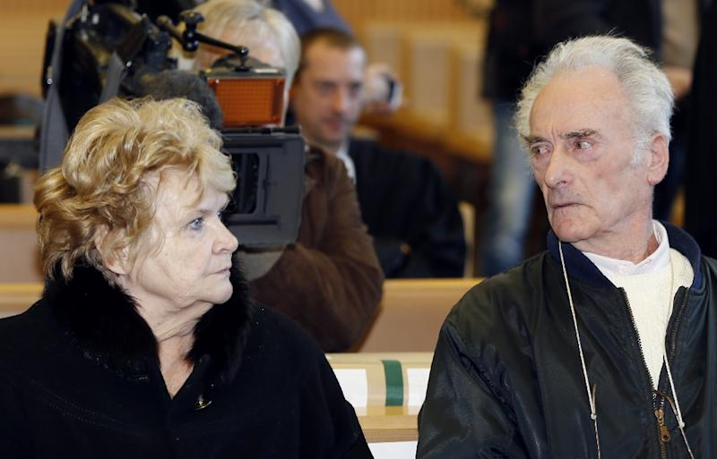 Pierre Le Guennec (R) and his wife Danielle were convicted for receiving stolen goods after being found in possession of Picasso paintings, at a court in Grasse, southeastern France