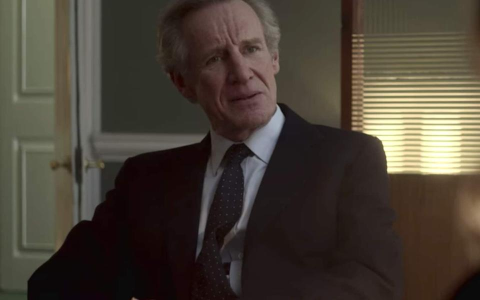 Nicholas Farrell as Michael Shea in The Crown  - Netflix