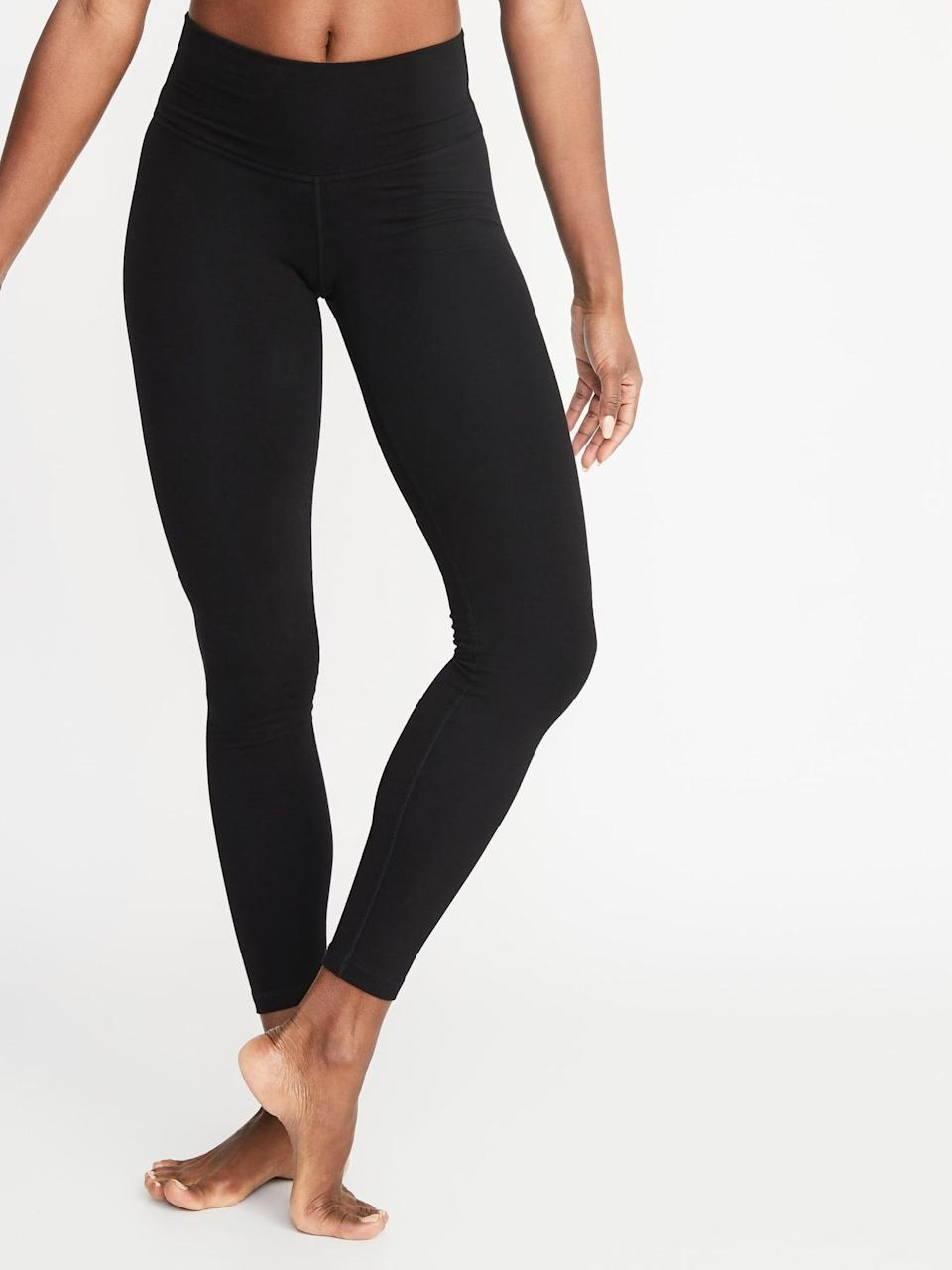 <p>You can do just about anything in these <span>Old Navy High-Waisted Balance Yoga Leggings</span> ($18, originally $25).</p>