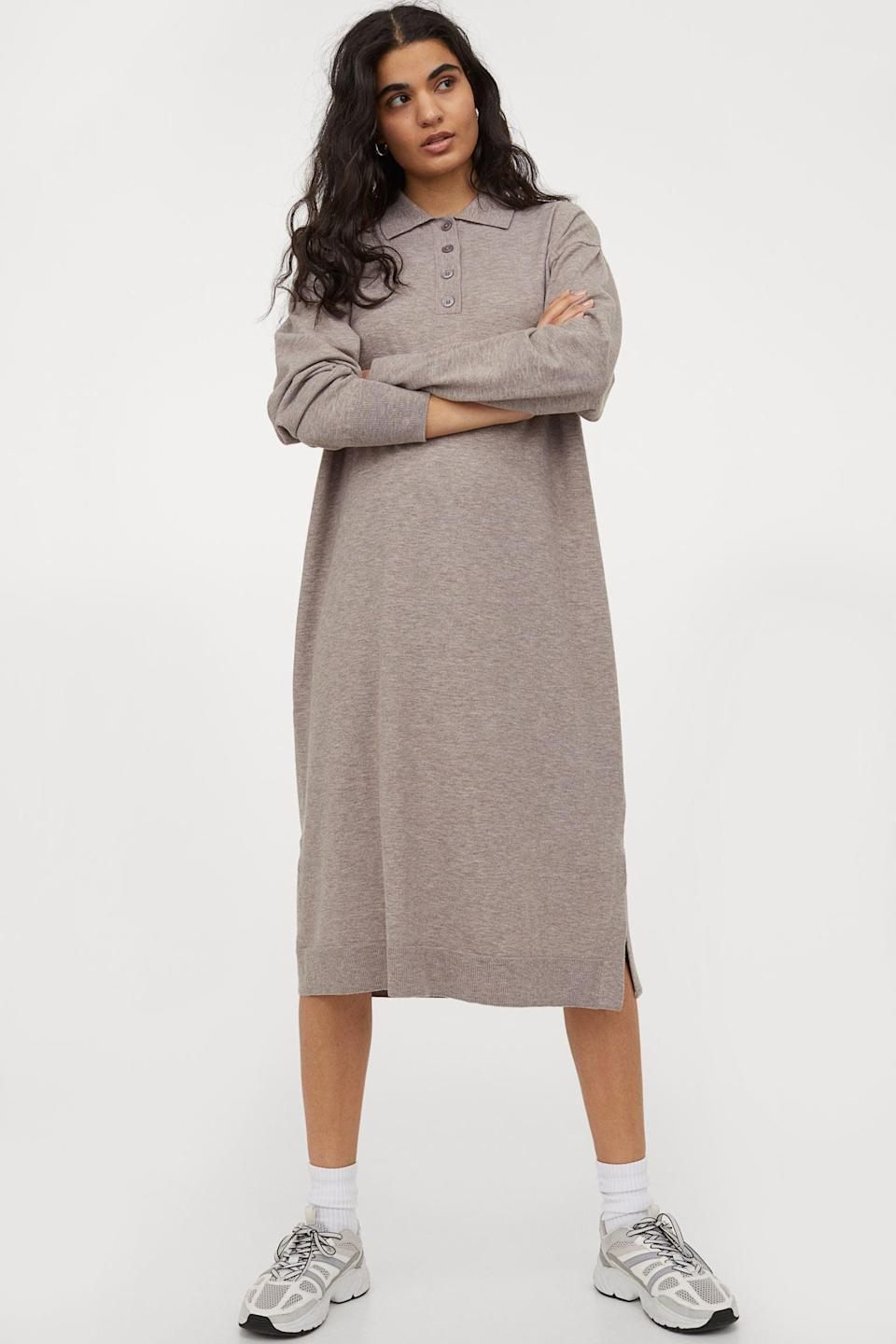 <p>Got some last-minute errands to run? The <span>H&amp;M Knit Collared Dress</span> ($30) has got you covered.</p>