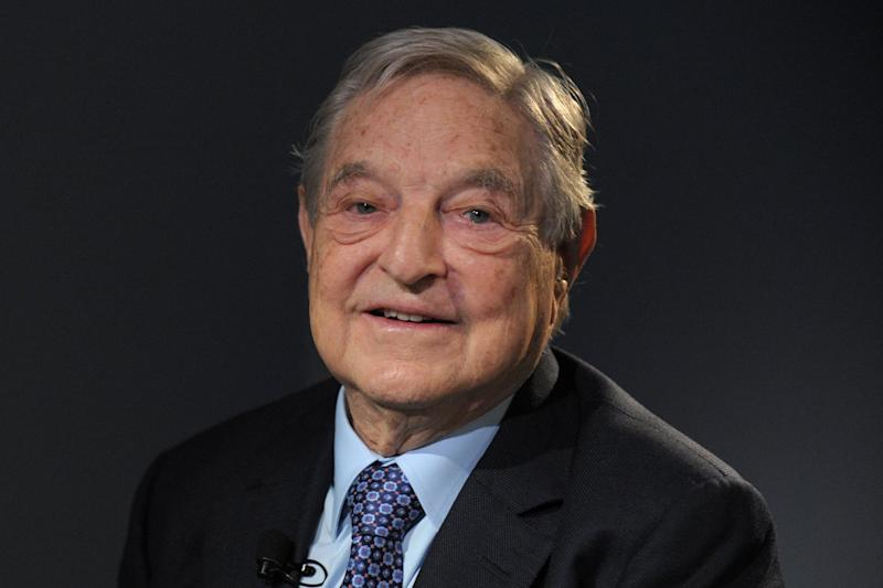 Billionaire backer: financier George Soros has made a huge donation to the anti-Brexit Best for Britain campaign: AFP/Getty Image