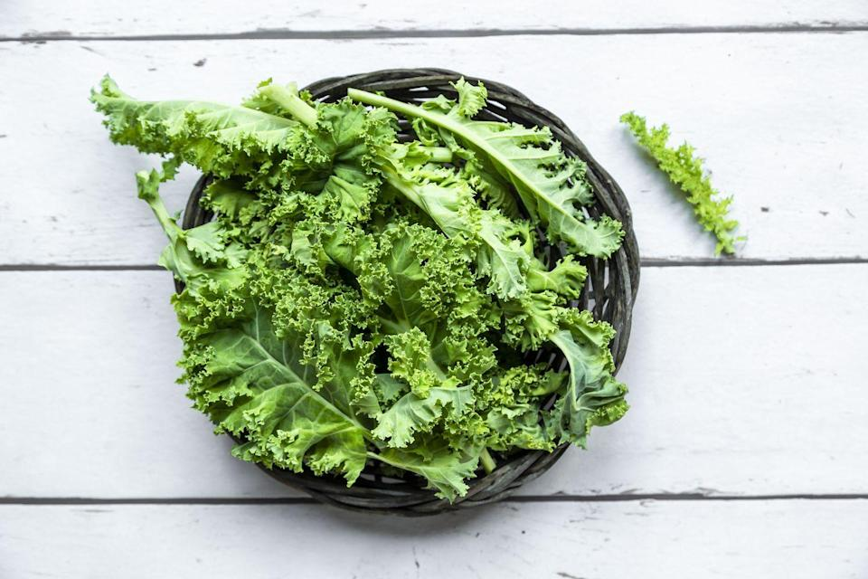 """<p>Start stocking up on your salad recipes, because leafy greens are sure to taste even better this upcoming season. """"Local kale, spinach, and arugula start to become available and you can definitely see and taste the difference!"""" said Emily Wunder, MSCN, RD, LDN, registered dietitian. """"These greens are not only a source of nutrients like iron, vitamin K, and vitamin C, but they are also a source of plant-based protein."""" </p>"""