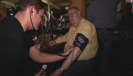 Health checks for men at Vic pub