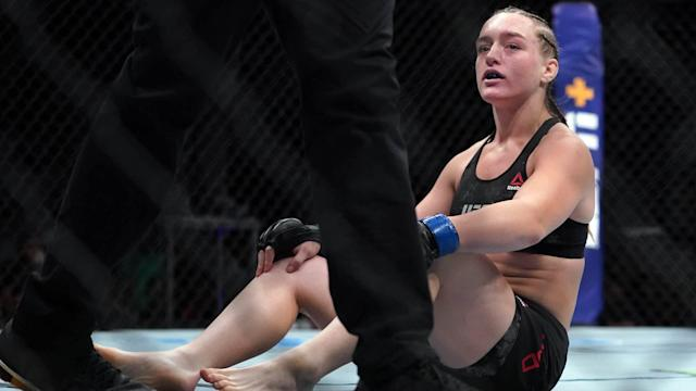 After only 16 seconds, Aspen Ladd no longer has an undefeated record.
