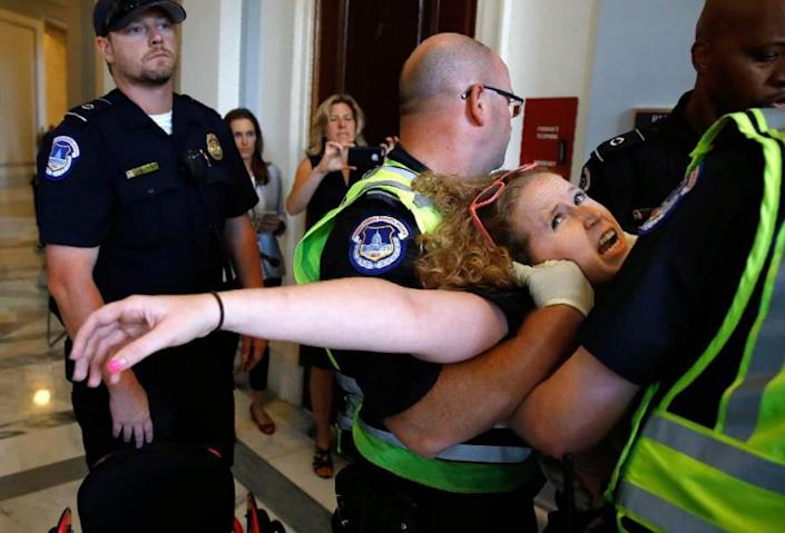 """<div class=""""inline-image__caption""""><p>Capitol Police did not hesitate to arrest peaceul protester Stephanie Woodward in the past. She doesn't understand why a violent mob got a pass.</p></div> <div class=""""inline-image__credit"""">Courtesy Stephanie Woodward</div>"""