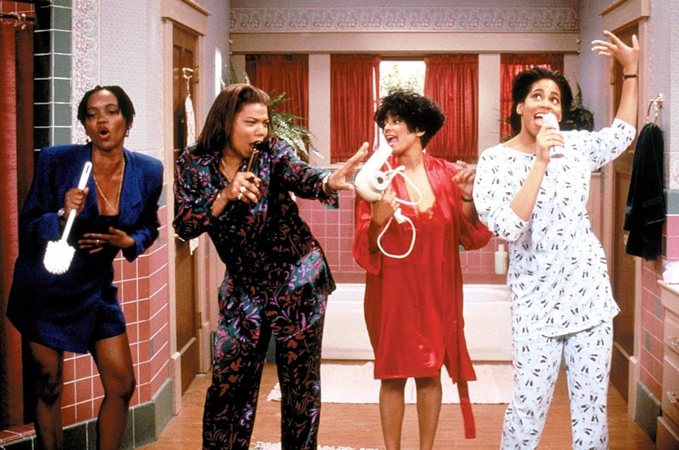 <p>If you're going to channel the ladies of the TV show <strong>Living Single</strong> - Khadijah, Synclaire, Max, and Régine (not pictured) - then you'll need some business-casual-wear fitting for the '90s working woman.</p>