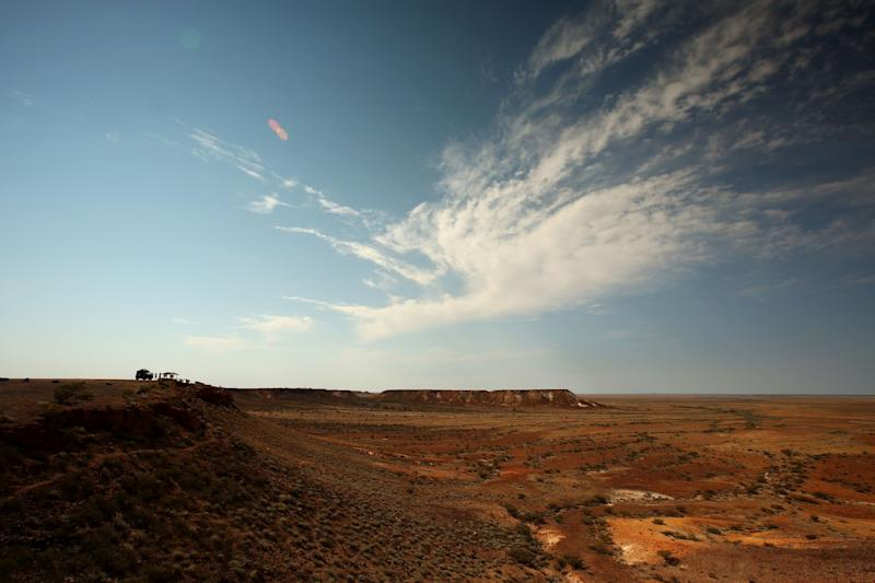 The empty harshness of the Australian Outback. Photo from Getty