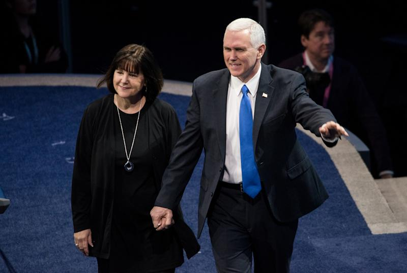 The Only Woman Mike Pence Is Allowed to Eat Alone With Is His Wife