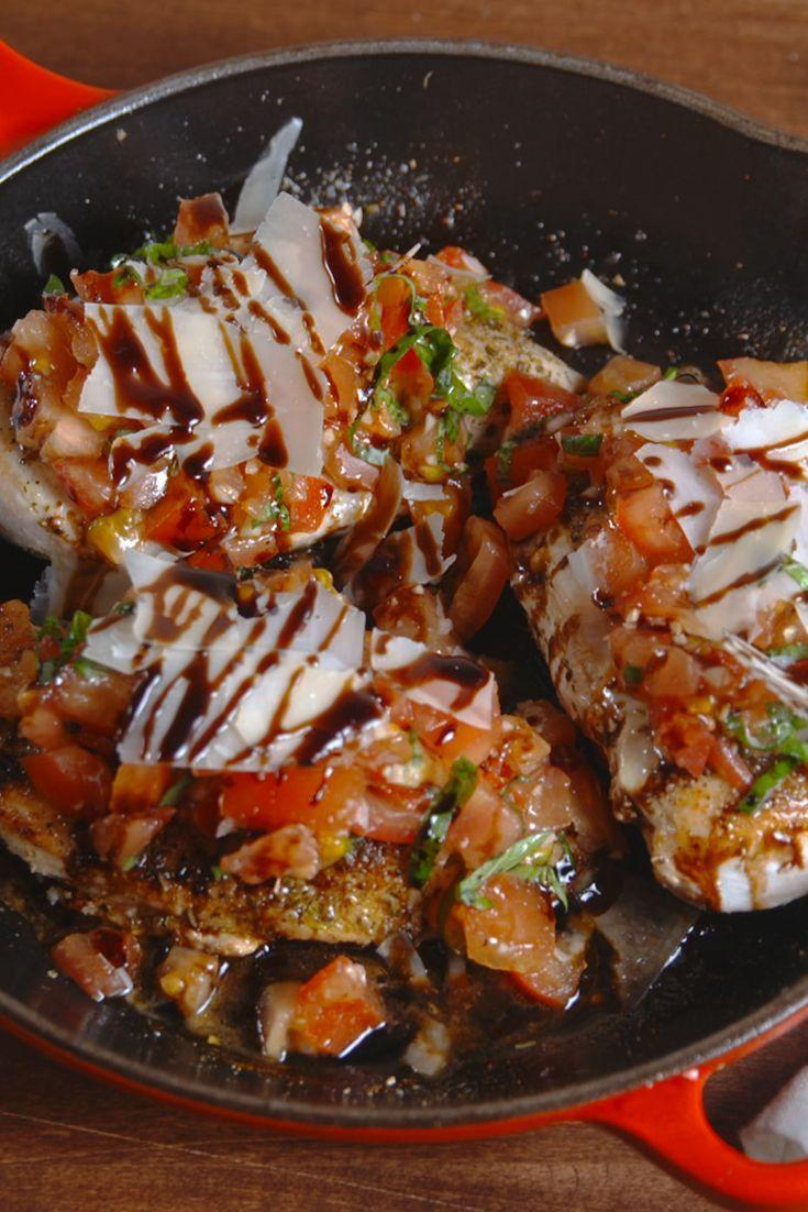 "<p>Our new weeknight fav.</p><p>Get the recipe from <a href=""https://www.delish.com/cooking/recipe-ideas/recipes/a51771/bruschetta-chicken-recipe/"" rel=""nofollow noopener"" target=""_blank"" data-ylk=""slk:Delish"" class=""link rapid-noclick-resp"">Delish</a>. </p>"