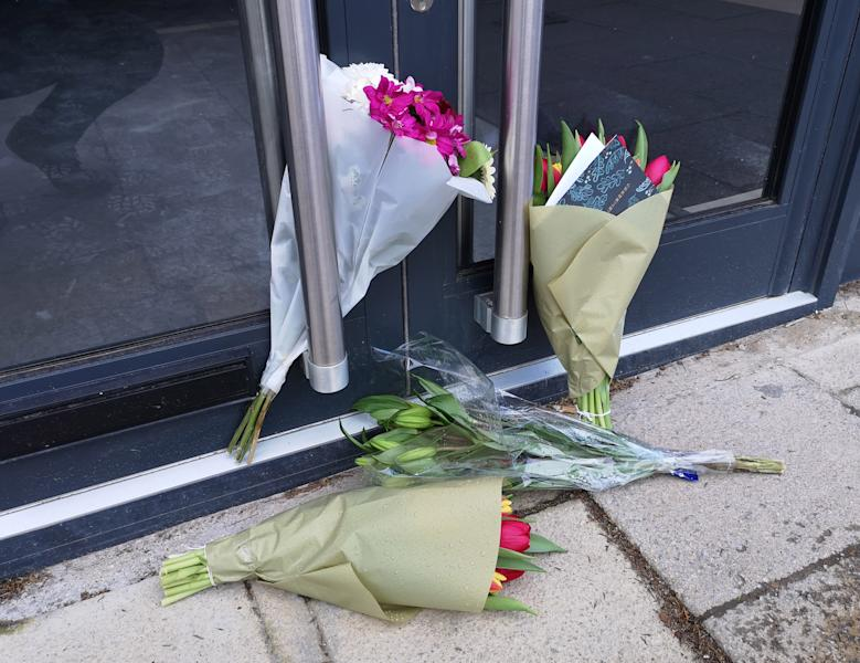 Tributes outside the cafe in Loughton Mike Thalassitis planned to open (Lewis Pennock/PA)