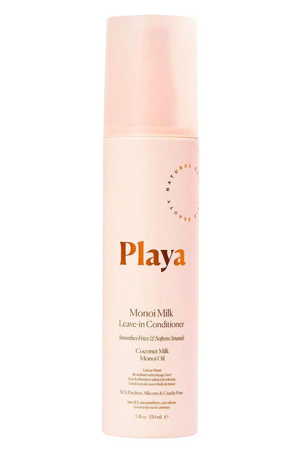 "<p><strong>Playa</strong></p><p>sephora.com</p><p><strong>$24.00</strong></p><p><a href=""https://go.redirectingat.com?id=74968X1596630&url=https%3A%2F%2Fwww.sephora.com%2Fproduct%2Fplaya-monoi-milk-leave-in-conditioner-P458953&sref=https%3A%2F%2Fwww.cosmopolitan.com%2Fstyle-beauty%2Fbeauty%2Fg27091073%2Fbest-hair-detangler%2F"" rel=""nofollow noopener"" target=""_blank"" data-ylk=""slk:Shop Now"" class=""link rapid-noclick-resp"">Shop Now</a></p><p>This multitasking detangling spray's a major time saver. A few spritzes on either wet or dry hair<strong> add instant moisture for easy detangling</strong> (bless you, <a href=""https://www.cosmopolitan.com/style-beauty/beauty/a27305882/coconut-oil-benefits-skin/"" rel=""nofollow noopener"" target=""_blank"" data-ylk=""slk:coconut"" class=""link rapid-noclick-resp"">coconut</a> milk and monoi oil), minimize frizz and flyaways, and help prep your hair for any type of style.</p>"