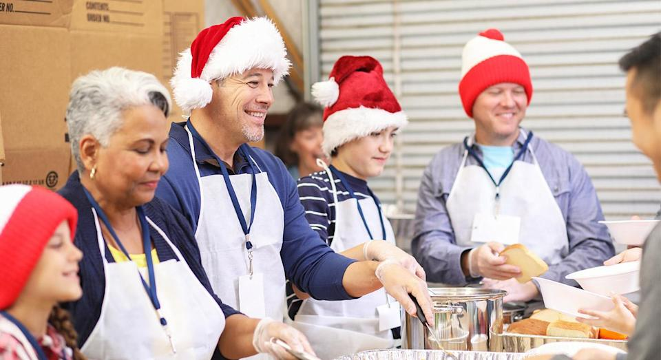 There are plenty of ways you can give back this Christmas. [Photo: Getty]