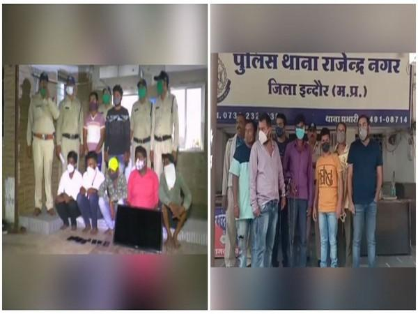 Betting gang arrested by Rajendra Nagar police (left) and Banganga police (right)