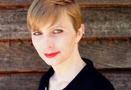 Chelsea Manning poses in a photo of herself for the first time since she was released from prison
