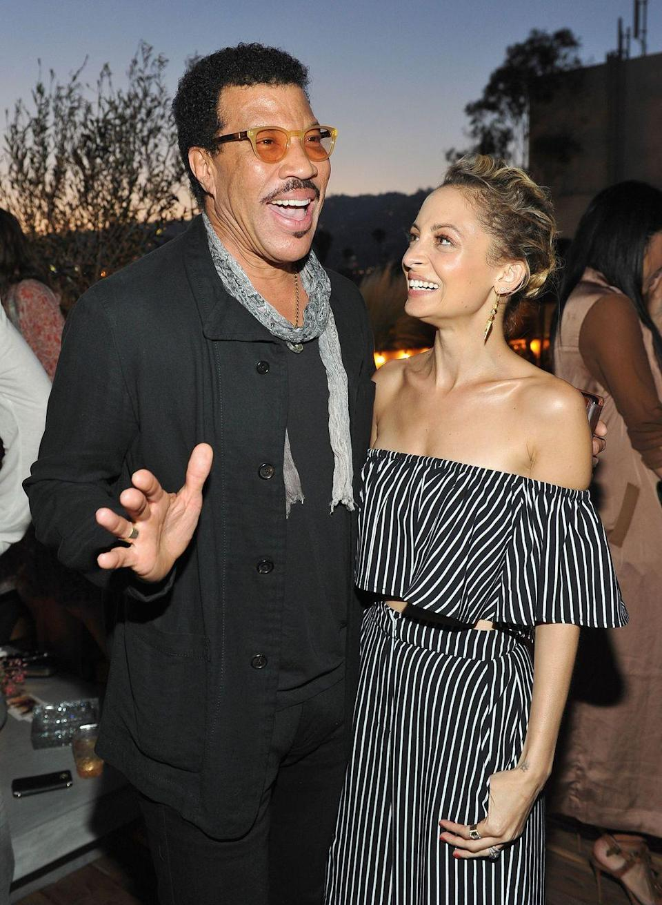 """<p><strong>Famous parent(s)</strong>: singer Lionel Richie<br><strong>What it was like</strong>: """"When your father is Lionel Richie, you grow up with some pretty famous people around the house, like Prince and Michael Jackson,"""" she's <a href=""""http://people.com/celebrity/nicole-richie-on-growing-up-with-uncle-michael-jackson-and-uncle-prince/"""" rel=""""nofollow noopener"""" target=""""_blank"""" data-ylk=""""slk:said"""" class=""""link rapid-noclick-resp"""">said</a>. """"From what I remember it was pretty normal for me. There were a lot of people around is what I do remember. There were people in and out of the house pretty you know much all the time, but now that I'm older and I'm in this business I get it.""""</p>"""