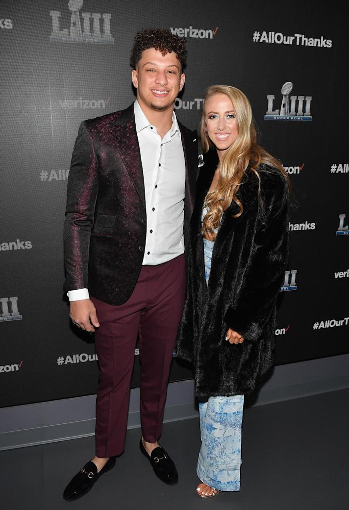 Patrick Mahoms and Brittany Matthews (Paras Griffin/Getty Images for Verizon)