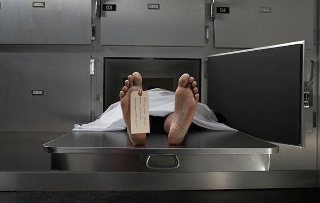 A dead body is not the way to a lady's heart! Photo: Getty