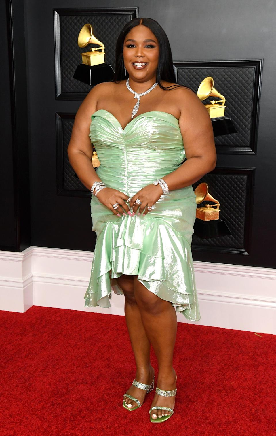 Lizzo's Grammys Looks Prove that Diamonds Are a Girl's Best Friend