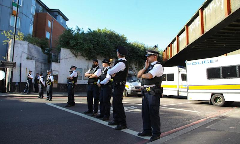 Police officers near the terror attack in Finsbury Park