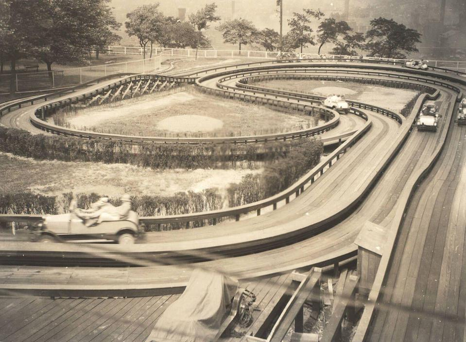 <p>Kids can get a taste of what it's like to hit the road at the Auto Race ride, which puts riders in the driver's seat and lets them go. While this type of ride was popular in the 1930s, Kennywood has the only surviving one today. </p>