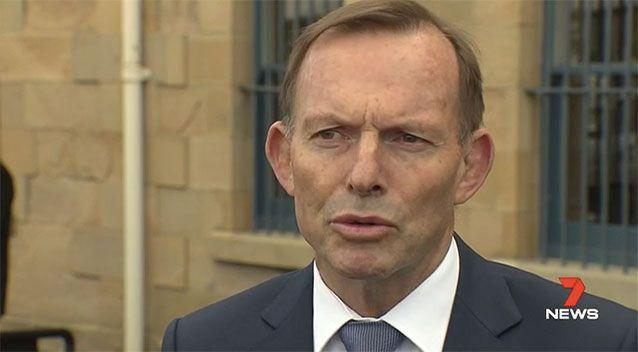 "Tony Abbott was in Hobart to meet with campaigners for the ""no"" vote in the same sex marriage survey."
