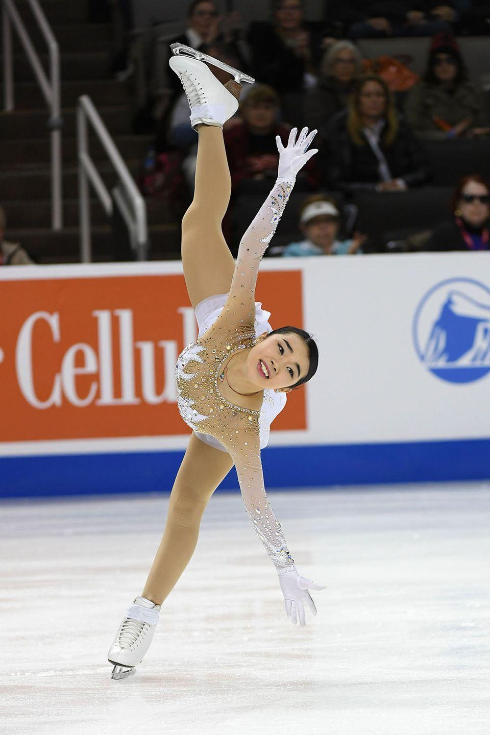 <p><strong>Age: </strong>18</p><p><strong>Hometown:</strong> Fremont, CA</p><p><strong>Event:</strong> Figure Skating</p><p>Karen Chen's days are dedicated to two main things: Training and studying. The 18-year-old figure skating is serious about getting her schoolwork done, but nearly every other waking moment is spent stretching, foam rolling, practicing on the ice or exercising away from the rink.</p>