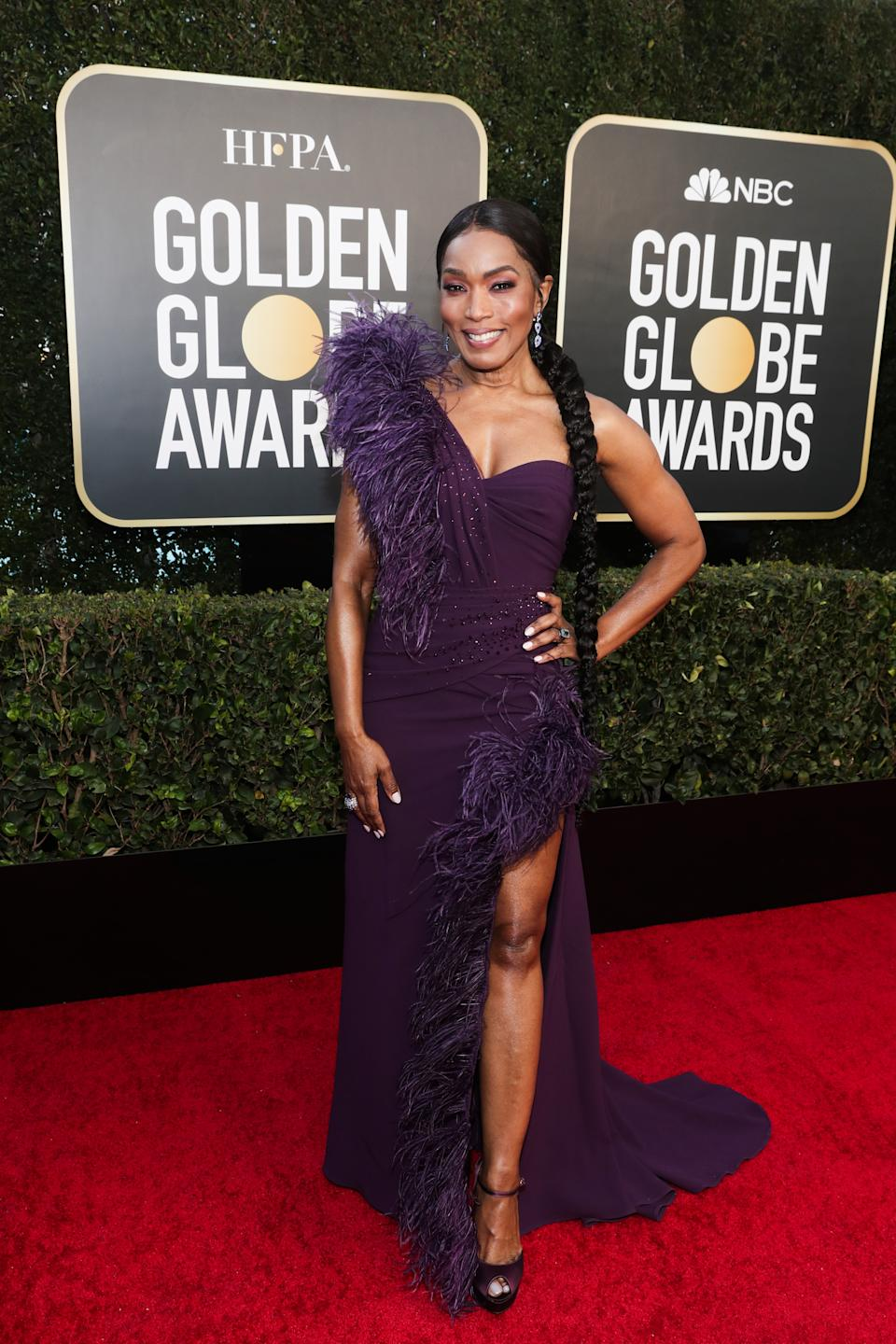 Angela Bassett attends the 78th Annual Golden Globe Awards held at The Beverly Hilton and broadcast on February 28, 2021 in Beverly Hills, California.