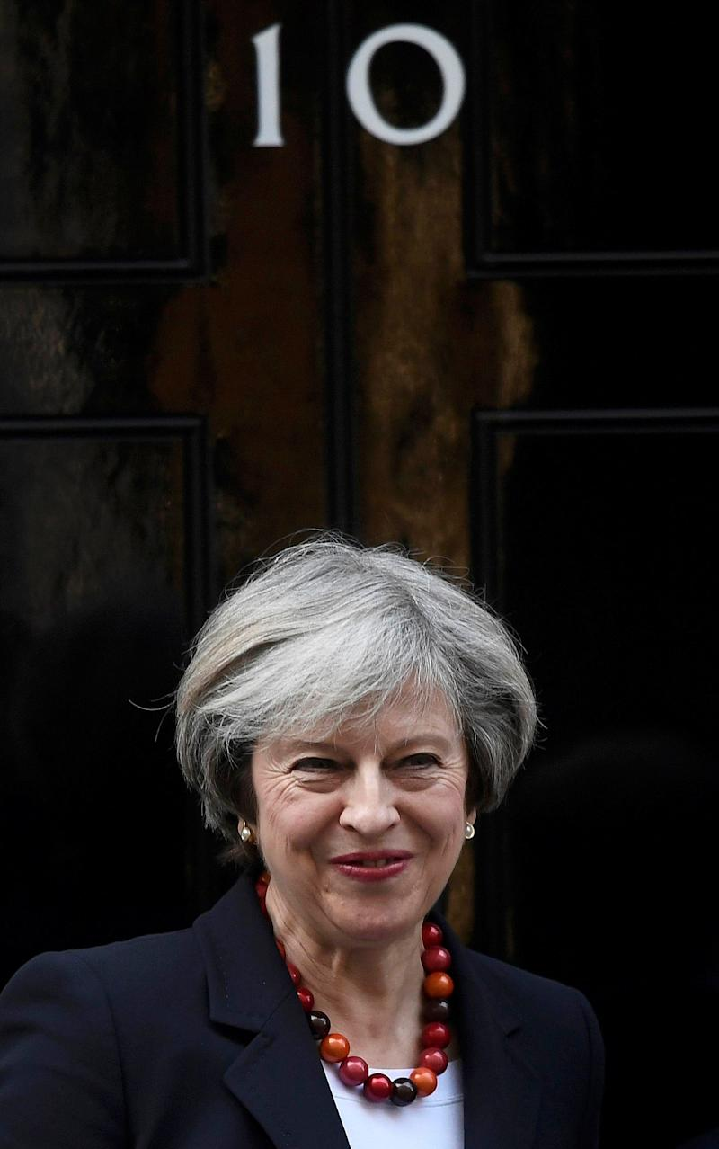 Theresa May at 10 Downing Street  - Credit: Toby Melville /Reuters