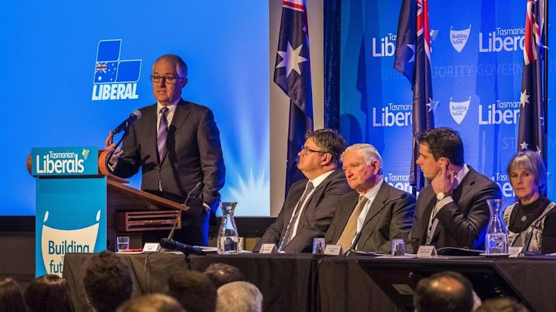 Malcolm Turnbull touched on energy and terrorism in his speech to Tasmanian Liberals.