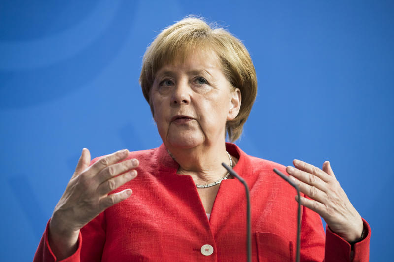 Chancellor Angela Merkel's Germany is notsuffering aflood of immigrant-related crime. (NurPhoto via Getty Images)