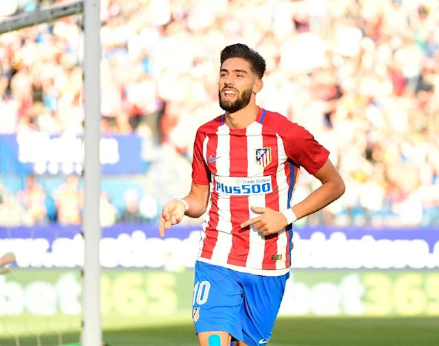 Atletico Madrid's Yannick Ferreira Carrasco and Thomas Partey both saw their penalty shots saved during a match against Osasuna in Madrid (AFP Photo/PIERRE-PHILIPPE MARCOU)
