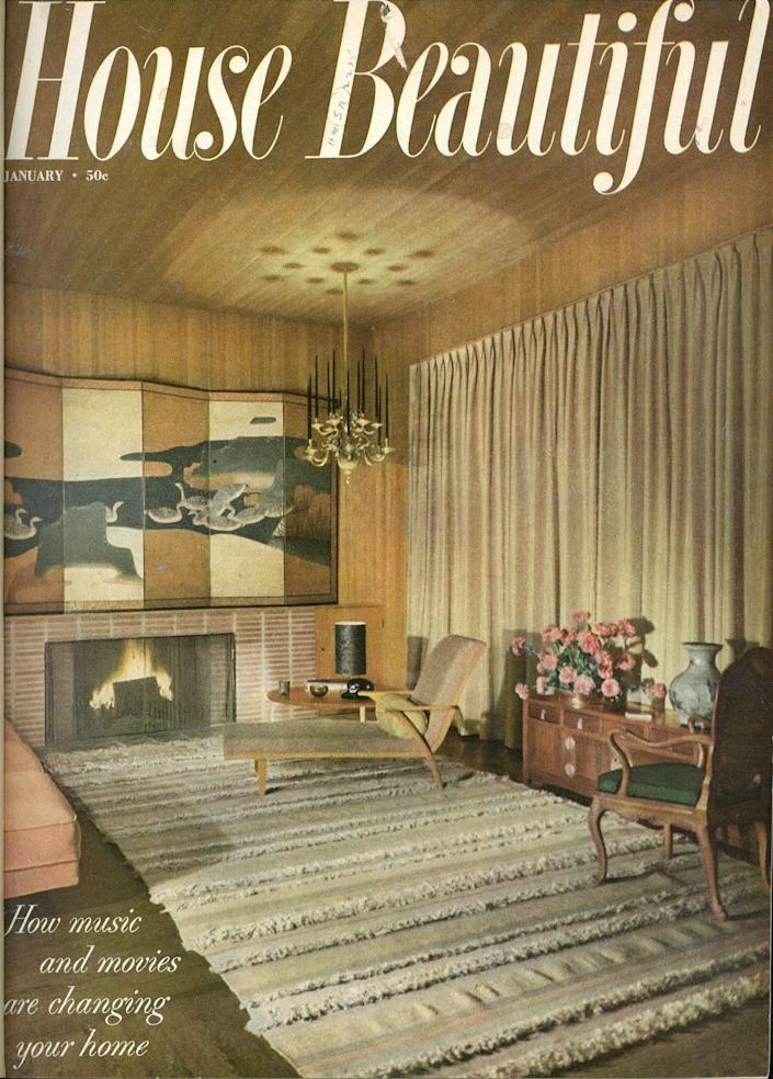 <p>The January 1953 issue was all about the impact of music and movies on homes, fitting for all you pop culture lovers out there.</p>