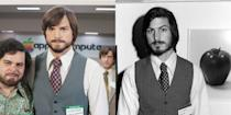 <p>Kutcher is the ultimate doppelgänger portraying former Apple CEO Steve Jobs in the 2013 film <em>Jobs. </em></p>