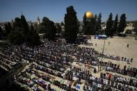 First Friday of the holy month of Ramadan in Jerusalem