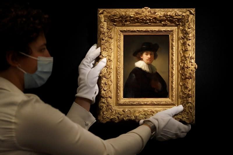 Rembrandt self-portrait sells for $18.7 million at Sotheby's