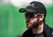 New Zealand captain Kane Williamson watches his players during a practice session at Lord's Cricket Ground in London, Monday, May 31, 2021.England will play New Zealand in the first of two cricket tests here starting June 2. (AP Photo/Ian Walton/Pool)