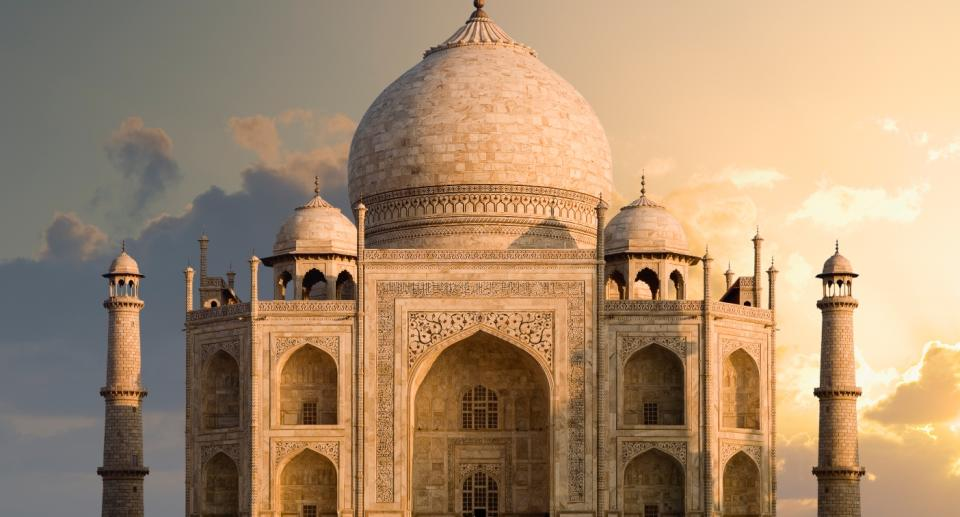 Taj Mahal: This UNESCO World Heritage site was built by the Mughal Emperor Shah Jahan for his wife Mumtaz Mahal between 1632 and 1648. Photo: Getty Images