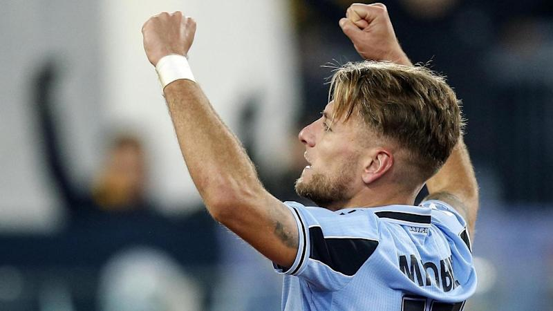 Lazio's Ciro Immobile has scored against Napoli to give his side a 10th straight league win