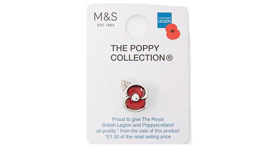 The Poppy Collection Enamel Poppy Pin
