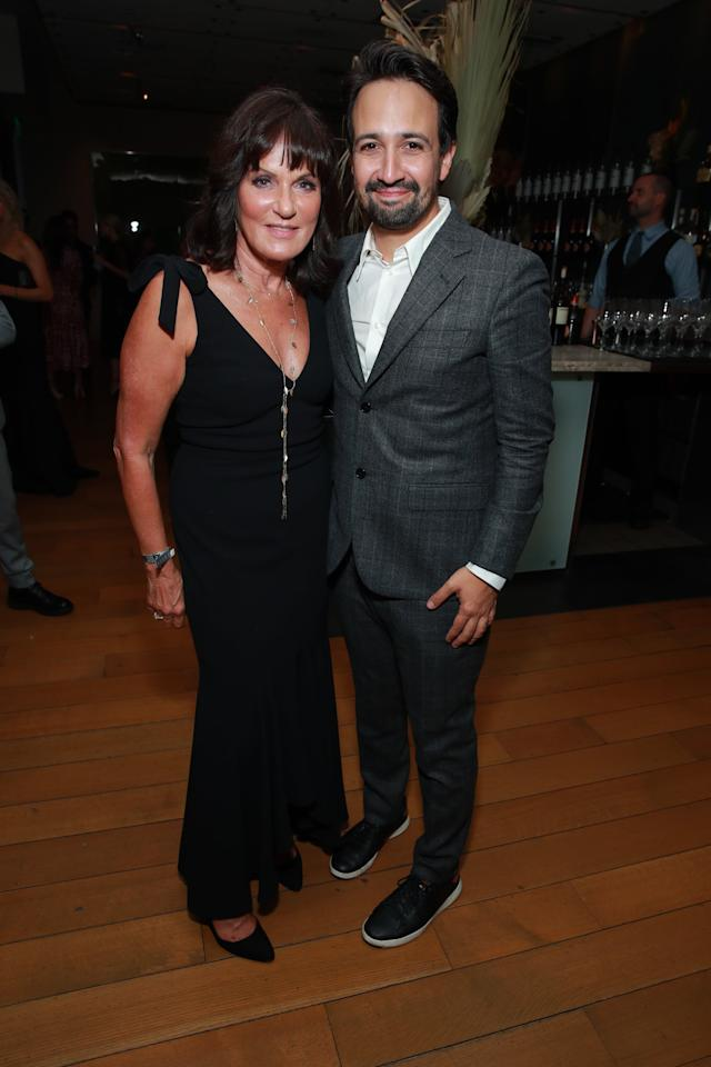 <p>Pictured: Sherry Marsh and Lin-Manuel Miranda</p>