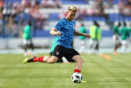 FILE PHOTO: Soccer Football - International Friendly - Croatia vs Senegal - Stadion Gradski vrt, Osijek, Croatia - June 8, 2018 Croatia's Ivan Rakitic during the warm up before the match REUTERS/Antonio Bronic