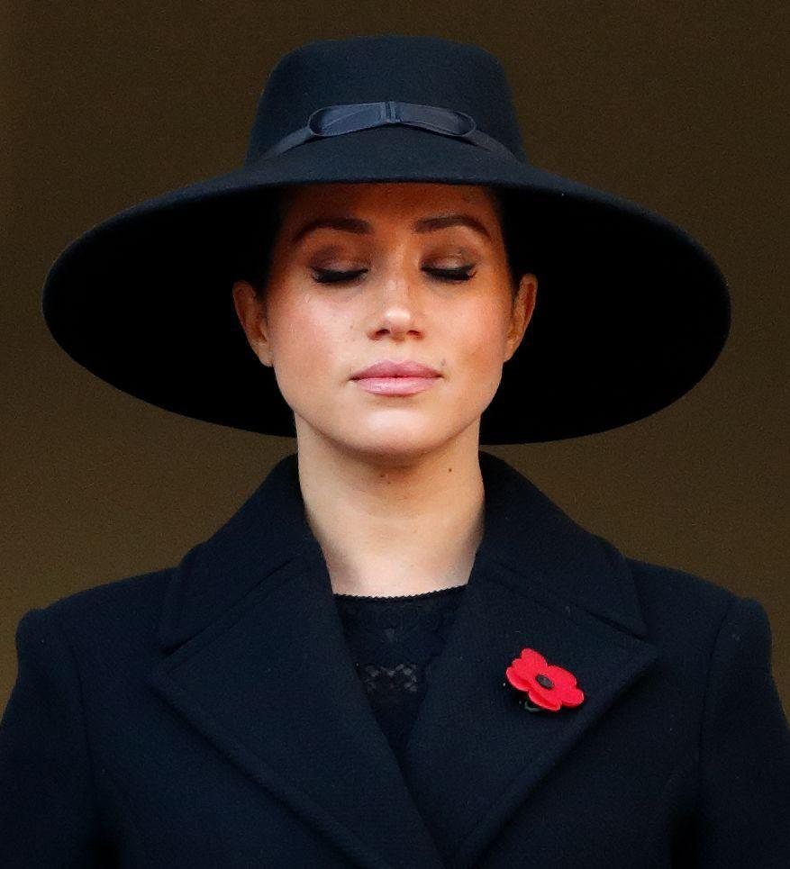 <p>The Duchess of Sussex on Remembrance Sunday.</p>