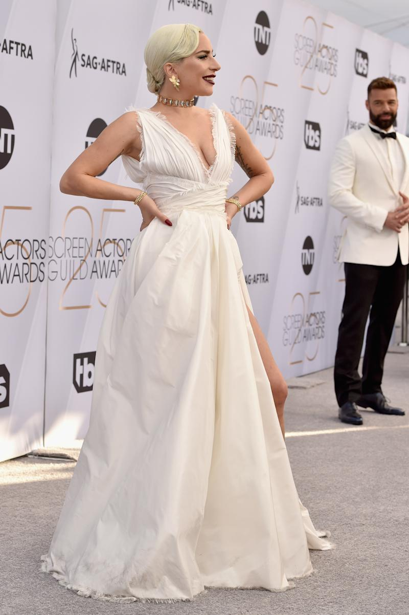 598163e7bb6 LOS ANGELES, CA - JANUARY 27: Lady Gaga attends the 25th Annual Screen  ActorsÂ