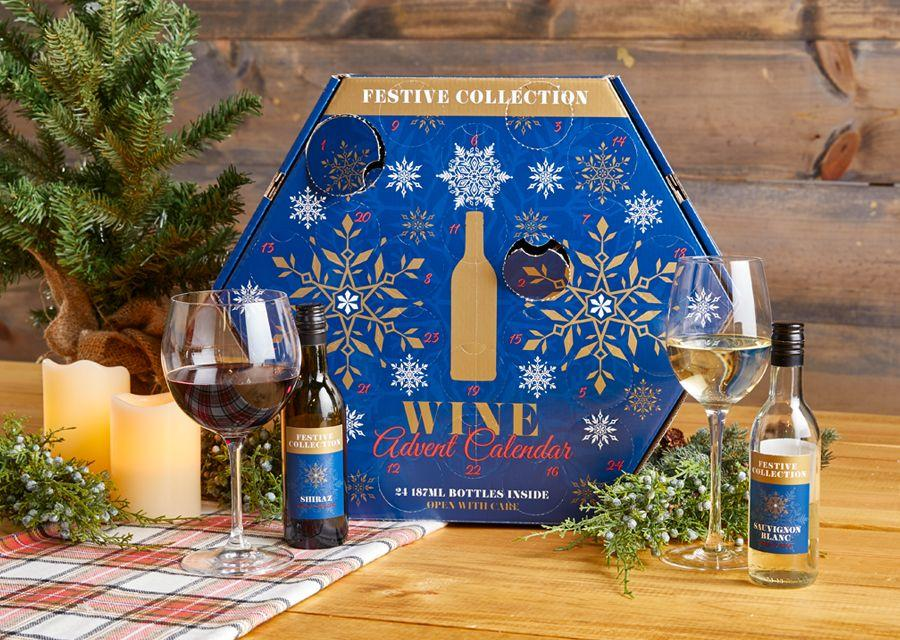 """<p>Sip, sip, hooray! Hurry to your nearest Aldi to grab one of these popular wine advent calendars, which features dry, sweet, red, white, and bubbly wines (on sale Nov 6, limit two per customer). These sell out fast, and sadly aren't available for purchase online, so don't wait. Oh, and while you're at it, don't forget to check out Aldi's <a href=""""https://www.goodhousekeeping.com/holidays/gift-ideas/g29439136/cheese-advent-calendars/"""" target=""""_blank""""><em>cheese</em> advent calendar</a> too.</p>"""