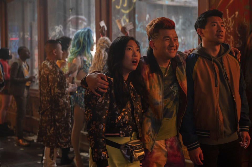 Katy (Awkwafina), Jon Jon (Ronny Chieng) and Shang-Chi (Simu Liu) in Marvel Studios' Shang-chi And The Legend Of The Ten Rings. (Photo: Jasin Boland/Marvel Studios)