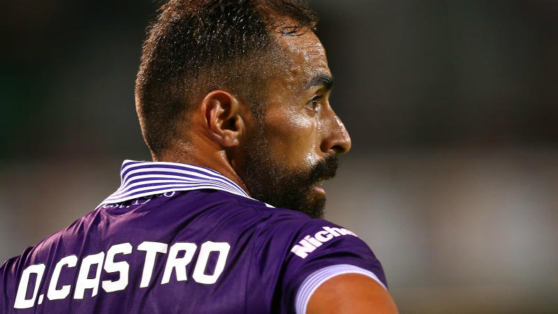 Diego Castro Perth Glory v Newcastle Jets A-League 04022017