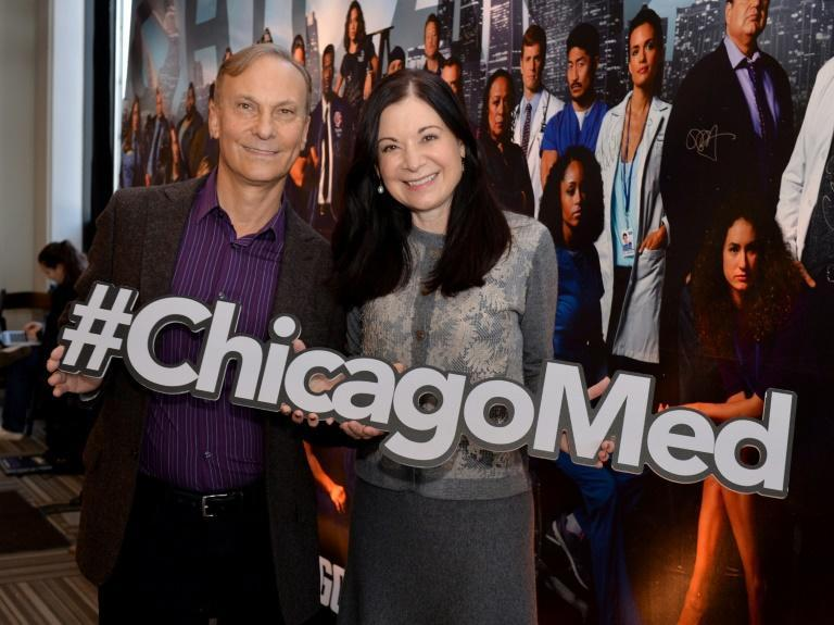 """Diane Frolov and Andrew Schneider, showrunners for NBC's """"Chicago Med,"""" told AFP that """"as a hospital show, we knew we'd have to deal with the pandemic"""""""