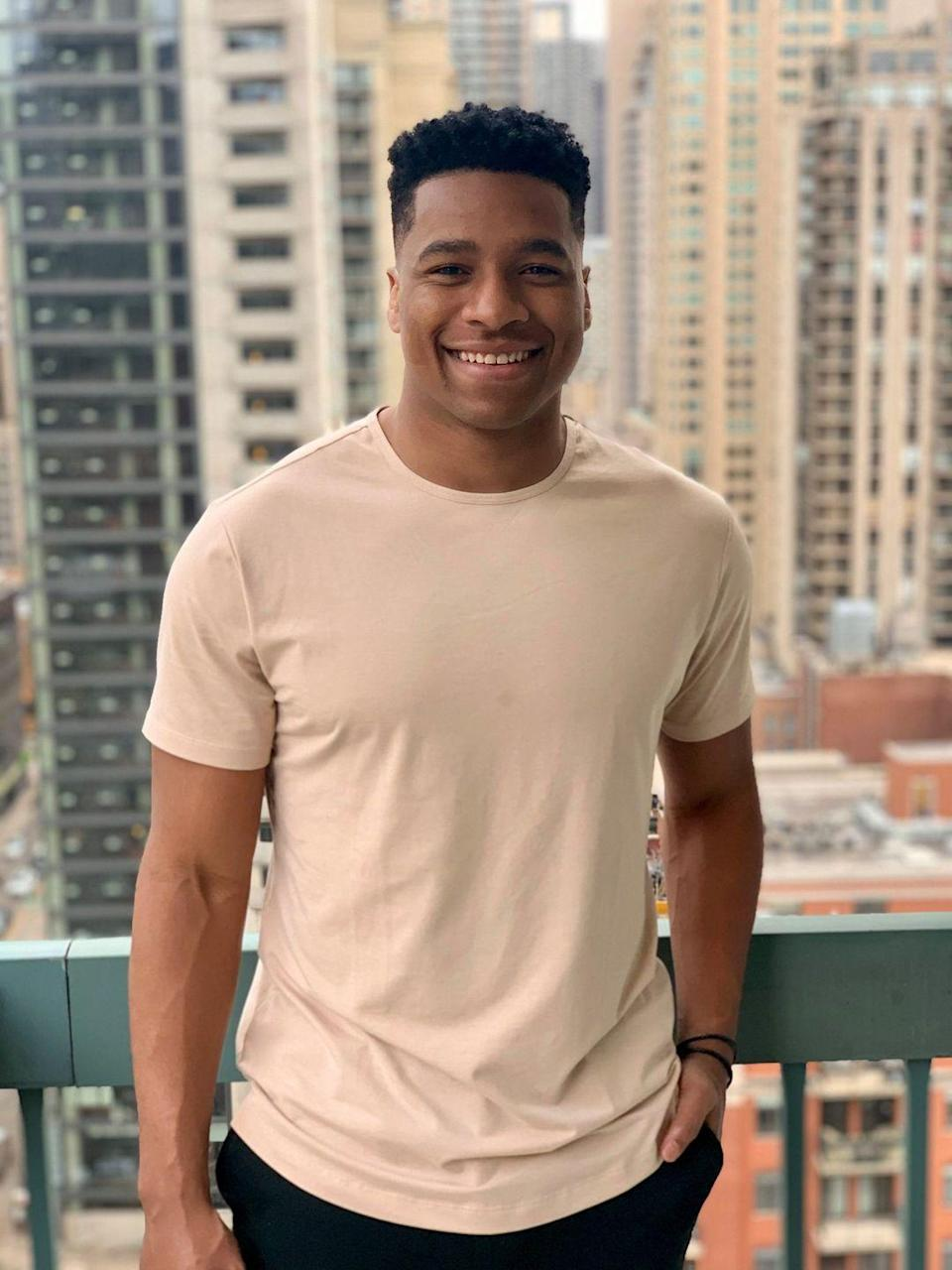 """<p>Andrew hails from a Windy City suburb. Fun fact: He's Clay Harbor's cousin. Andrew is a football player, too, for the Austrian Football League.</p><p><strong>Age: 26</strong></p><p><strong>Hometown: Waukegan, IL</strong></p><p><strong>Instagram: <a href=""""https://www.instagram.com/andrewzspencer/"""" rel=""""nofollow noopener"""" target=""""_blank"""" data-ylk=""""slk:@andrewzspencer"""" class=""""link rapid-noclick-resp"""">@andrewzspencer</a></strong></p>"""