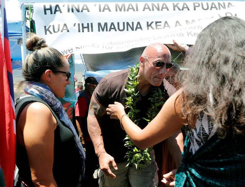 Dwayne Johnson Joins Protests Against Construction on Hawaii's Tallest Mountain